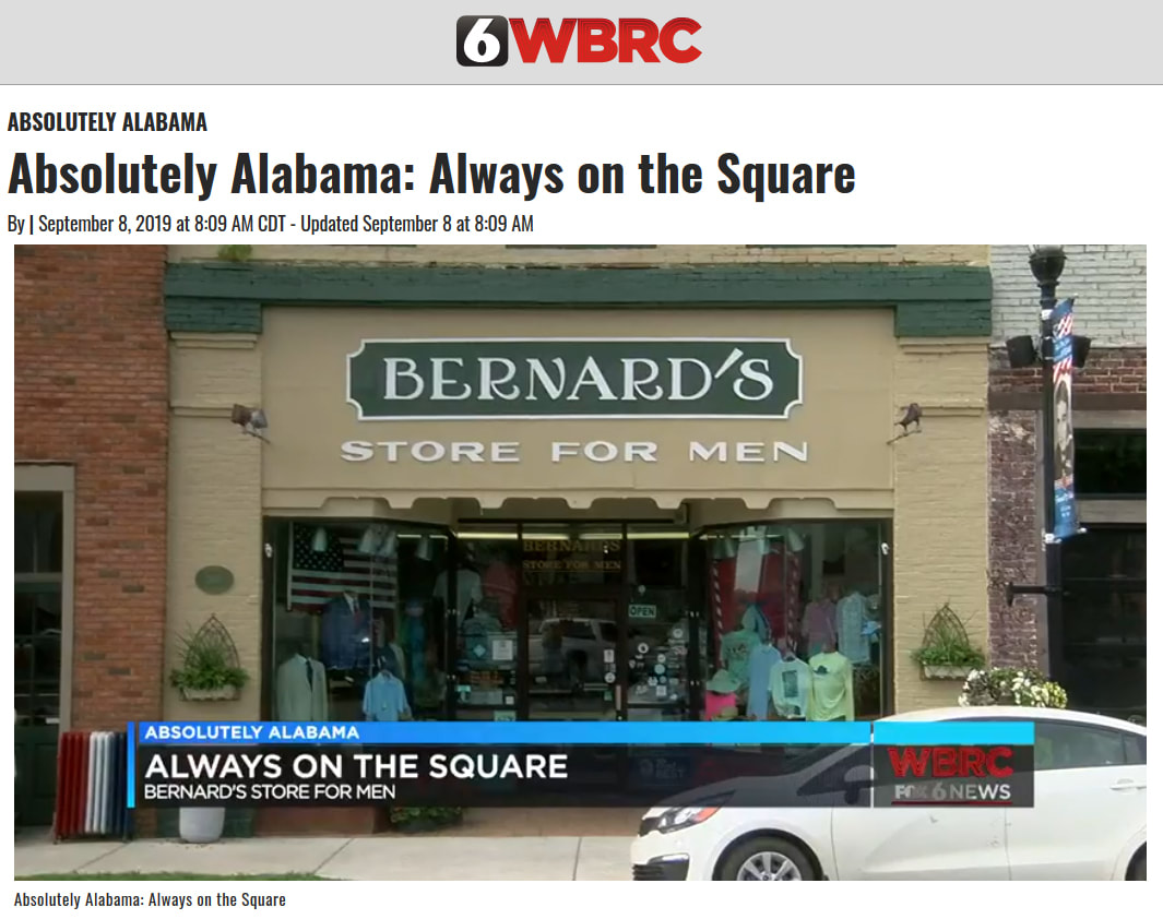 Watch Bernards Store for Men on Absolutely Alabama with Fred Hunter on WBRC 6