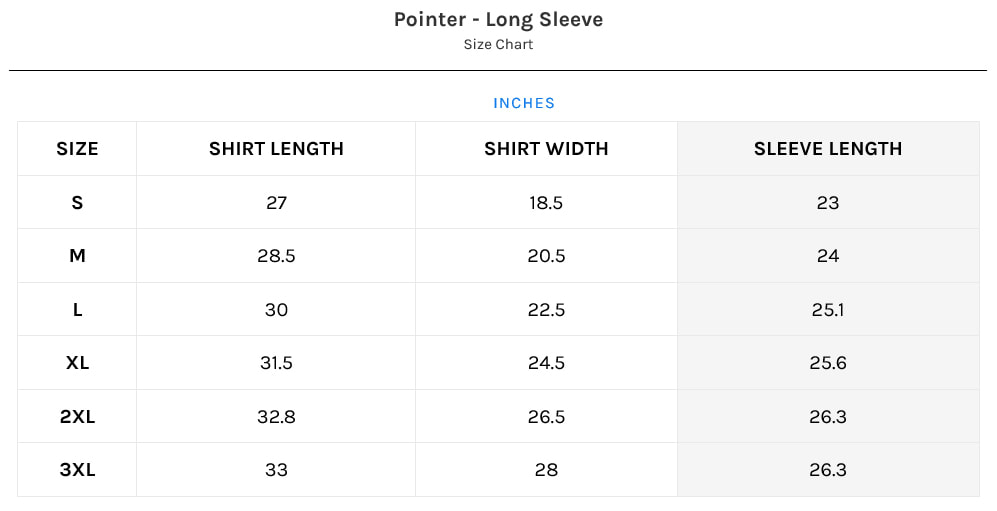old south fitting guide sizing chart